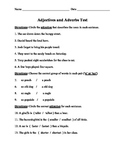 Adjectives and Adverbs Unit Test