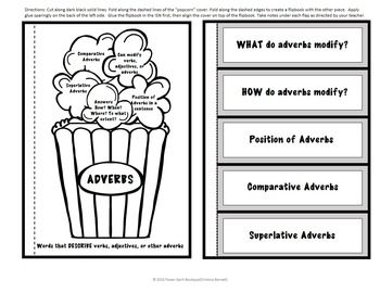 Adjectives and Adverbs for Interactive Notebooks!
