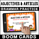 Adjectives and Articles BOOM CARDS   Adjectives & Articles Grammar Practice