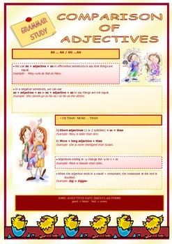 Adjectives and Comparative