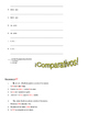 Adjectives and Comparativos (Comparatives) Notes and Practice