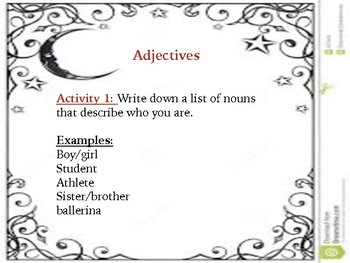 Adjectives and Conjunctions Lesson