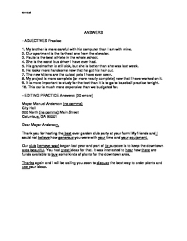 Adjectives and Editing Practice Pages: Grades 4/5