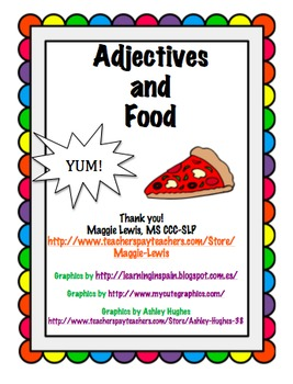 Adjectives and Food