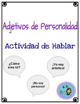 Adjectives and Gender: Actividad de Hablar