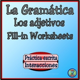 Adjectives and Personality Traits Fill-In Worksheets - Los