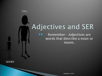 Spanish - Adjectives and SER PowerPoint