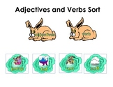 Adjectives and Verbs Bunny Word Sort Common Core Grammar