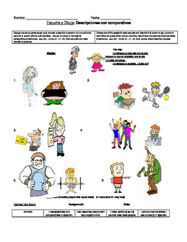 Adjectives and comparatives Speaking Activity