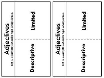 Adjectives - descriptive & limited