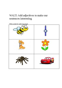 Adjectives differentiated resources