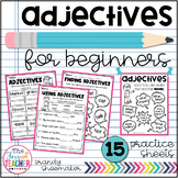 Adjectives for Beginners Practice Sheets