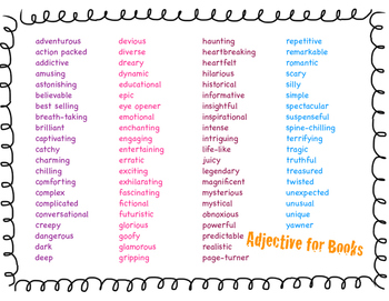 Adjectives for Books