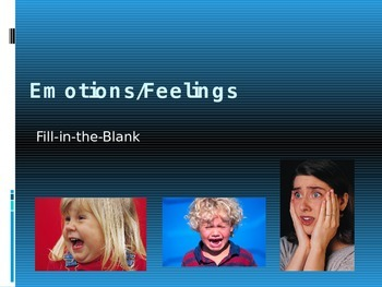 Adjectives for EMOTIONS and FEELINGS
