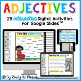 Adjectives for Google Slides Paperless Digital Activities
