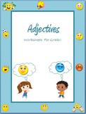 Adjectives  Worksheets for Grade 1 & 2 / Google Classroom