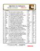 Adjectives for HALLOWEEN   SPOOKY Vocabulary   FUN ART   G