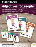 Adjectives for People Flashcards / Set of 16 / Printable