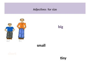 Adjectives for Sounds & Feelings