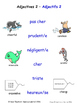 Adjectives in French Matching Activities