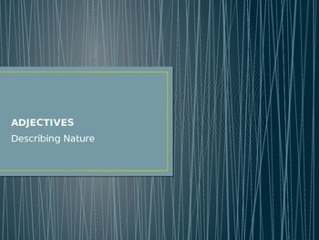 Adjectives in NATURE