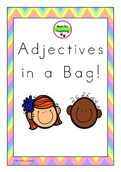 Adjectives in a Bag Vocabulary Pack