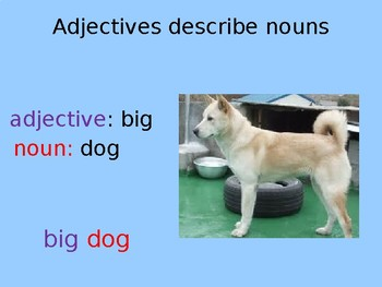 Adjectives - introduction, explanation, examples, quiz