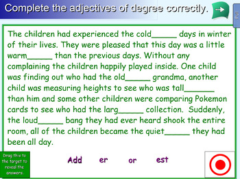 Interactive Adjectives of Degree Activity for IWB