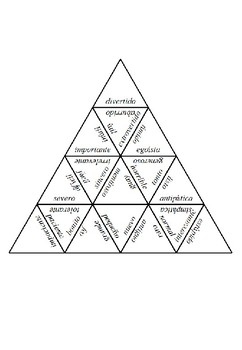 Adjectives pyramid -