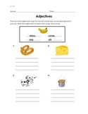 Adjectives (sight or sound words)