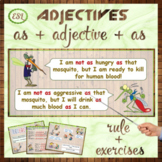 """Adjectives: stuctures """"as...as"""", """"not as...as"""""""