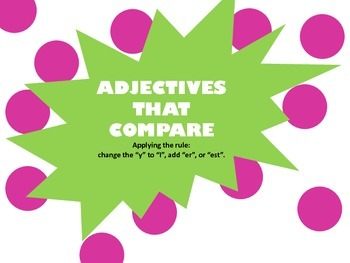 Adjectives that Compare: Power Point/Marker Board Activity  (Common Core)