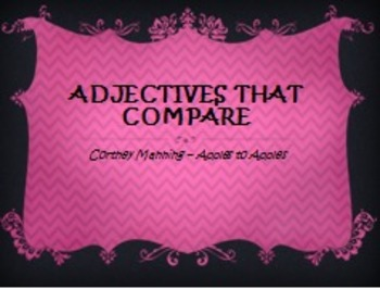 Adjectives that Compare PowerPoint