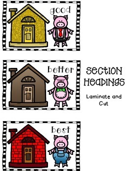 Adjectives that Compare with The 3 Little Pigs