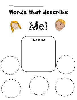 Adjectives that Describe Me!