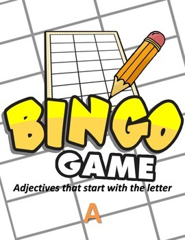 Adjectives that Start With A - BINGO