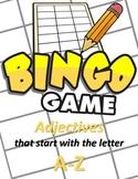 Adjectives that Start With... - BINGO