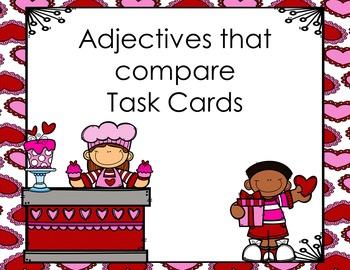 Adjectives that compare Task Cards (er, est)