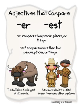 Adjectives that compare er and est