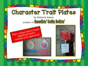 Adjectives (using character trait plates)