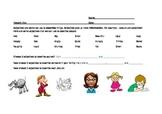 Adjectives vocabulary practice for ESL children.