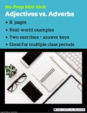 Adjectives vs. Adverbs: Lesson + 2 Exercises