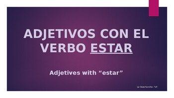 Adjetivos con estar: Vocabulario
