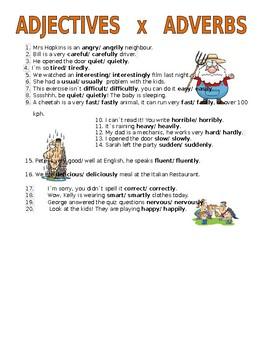 Adjectives x adverbs