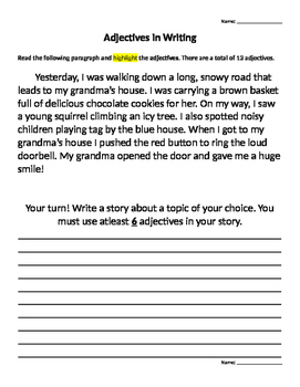 Adjectivies Practice and Formative