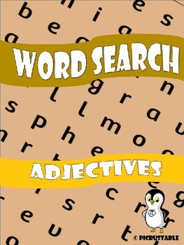 Adjectves Word Search