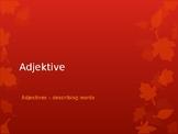 Adjektive - Adjecives in German