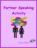 Adjektive (German Adjectives) Partner puzzle Speaking activity