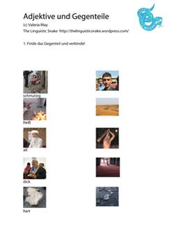 Adjektive und Gegenteile (A1)