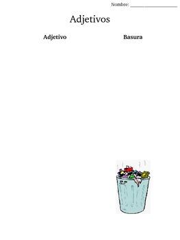 Adjetivo Adjective